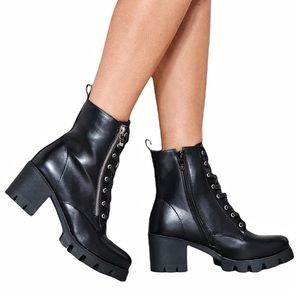 Nasty Gal Kick It Up A Notch Heeled Ankle Boot 8
